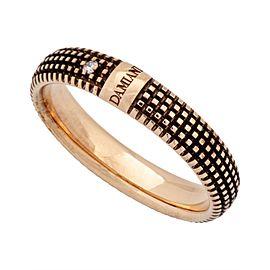Damiani 18K Rose Gold Diamond Ring Size 9.5