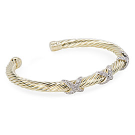 David Yurman Cable 14K Yellow Gold Diamond Bracelet