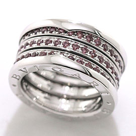 Bulgari B.zero1 18K White Gold Garnet Ring Size 6