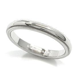 Tiffany & Co. Milgrain Platinum Ring Size 8.5
