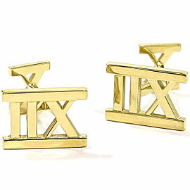 Tiffany & Co. Atlas 18K Yellow Gold Cufflinks