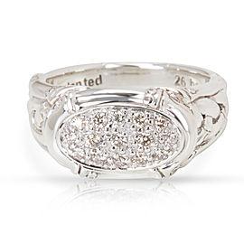 John Hardy Sterling Silver 0.20ctw. Diamond Rings Size 7