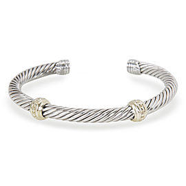 David Yurman Renaissance Sterling Silver & 14K Yellow Gold Bangle