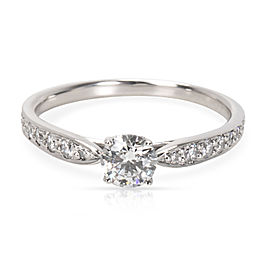 Tiffany & Co. Platinum 0.30ct Diamond Engagement Ring Size 4.75