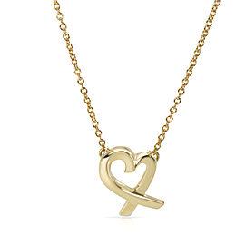Tiffany & Co. 18K Yellow Gold Paloma Picasso Mini Loving Heart Pendant