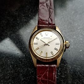 Rolex Oyster Perpetual 6619 25mm Vintage Womens Watch