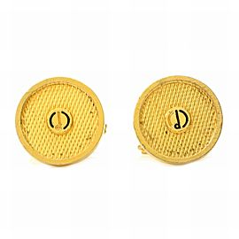 Dunhill Gold Tone Hardware Circle Cufflinks