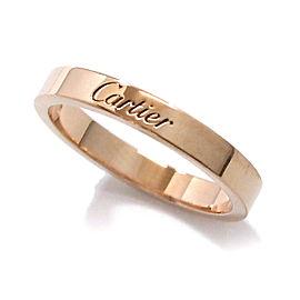 Cartier Engraved Ring 18K Rose Gold Size 7.25