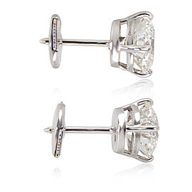 Bulgari 18K White Gold Diamond Earrings