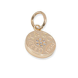 Tiffany & Co. Round 1837 Diamond Charm in 18K Yellow Gold 0.04 ctw