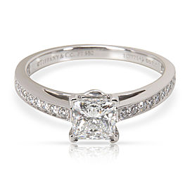Tiffany & Co. Platinum Diamond Engagement Ring Size 5.75