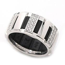 Chaumet 18K White Gold Diamond Ring Size 6.5