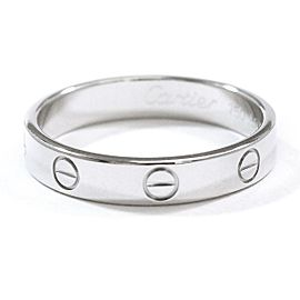 Cartier Love Ring 18K White Gold Size 8.75