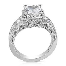 Tacori Platinum Zircon, Diamond Engagement Ring Size 6.25