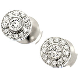 Tiffany & Co. Circlet Diamond Platinum Earrings