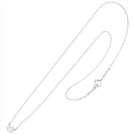 Tiffany Co. 950 Platinum 0.18ctw Diamond By The Yard Necklace