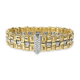 Roberto Coin Appassionata Three-row Diamond Bracelet in 18K Gold (1.18 CTW)