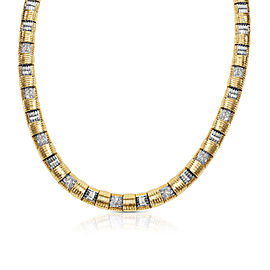 Roberto Coin Appassionata Necklace in 18KT Two Tone Gold 1.35 ctw