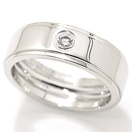 Cartier Fortune 18K White Gold Diamond Ring Size 11.5