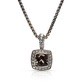 David Yurman Sterling Silver Topaz, Diamond Necklace