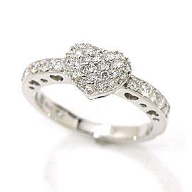 Ponte Vecchio18K WG Diamond Ring Size 5.25