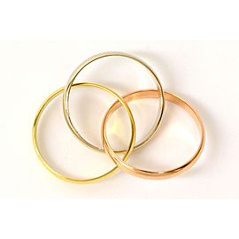 Cartier Trinity Ring 18K Gold Size 4.50