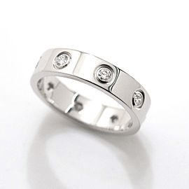 Cartier Mini Love Ring 18K White Gold Diamond Size 3.25