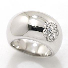 Ponte Vecchio 18K White Gold Diamond Ring Size 5