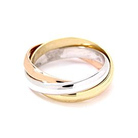 Cartier Trinity Ring 18K Yellow White and Rose Gold Size 3
