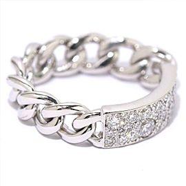 Dior 18K White Gold Diamond Ring Size 4.75