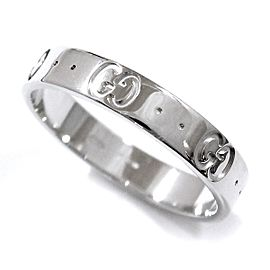 Gucci Icon 18K White Gold Ring Size 8.25