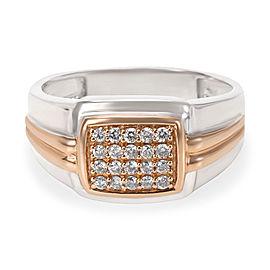 Men's Diamond Ring in 10K White Gold (0.25 CTW)