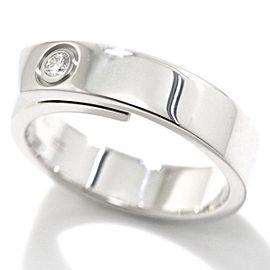 Cartier 18K WG Diamond Ring Size 9.25