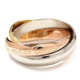 Cartier 18K Trinity Ring Size 5.75