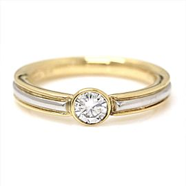 Yves Saint Laurent 18K Diamond Ring Size 5.5