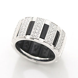 Chaumet 18K WG Diamond Rubber Ring Size 4