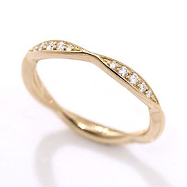 Chanel K18 PG Diamond Ring Size 4.5