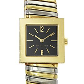 Bulgari Quadrato Tubogas SQ22 22mm Womens Watch