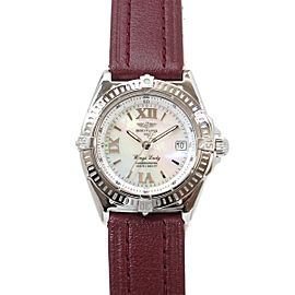 Breitling Wings Lady A67350 32mm Womens Watch