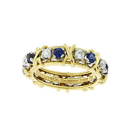Tiffany & Co. Platinum Diamond, Sapphire Ring Size 5