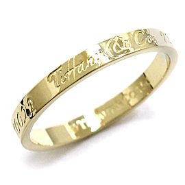 TIFFANY Co. 18K YG Notes Narrow Ring Size 9