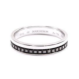 Boucheron 18K WG Quatre Black Ring Size 9