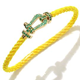 FRED Force 10 Bracelet Emerald 18K YG Yellow Cord Gold