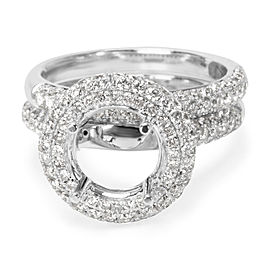 18K White Gold Diamond Engagement Ring Size 5.75