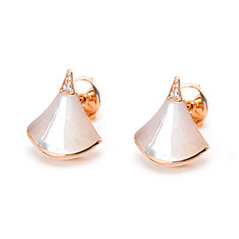Bulgari 18K Rose Gold Diamond Earrings