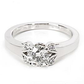 Cartier Ballerine Platinum Diamond Engagement Ring Size 3.5