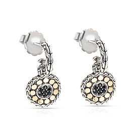 John Hardy 18K White Gold, Sterling Silver Sapphire Earrings