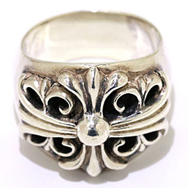 Chrome Hearts Sterling Silver Keeper Ring Size 11.75