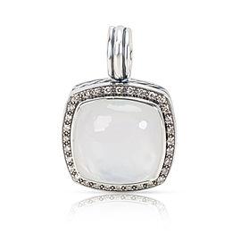 David Yurman Sterling Silver Mother Of Pearl, Diamond, Pearl Pendant