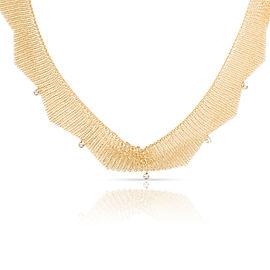 Tiffany & Co. Peretti Mesh Choker Diamond Necklace in 18K Yellow Gold